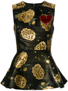 топ с баской  Dolce & Gabbana