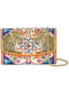 сумка на цепочной лямке с заклепками и принтом Dolce & Gabbana