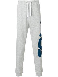 спортивные брюки с принтом логотипа Fila