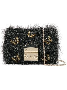 маленькая текстурная сумка Metropolis с украшением из бусин Furla