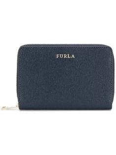 кошелек на молнии с логотипом Furla