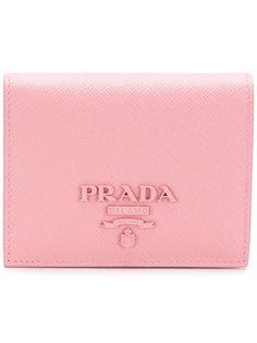 классический бумажник с логотипом  Prada