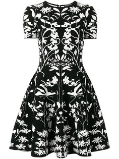 трикотажное мини-платье  Alexander McQueen