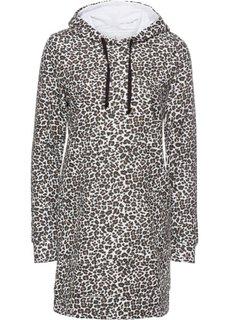 Платье с леопардовым принтом (черный/натуральный с узором) Bonprix