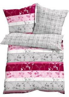 Постельное белье Элла, линон (серый/ярко-розовый) Bonprix