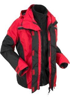 Непромокаемая куртка 3 в 1 (красный/черный) Bonprix