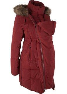 6b1ff6d122df Мода для беременных и молодых мам  куртка с карманом-вкладкой для малыша  (красный