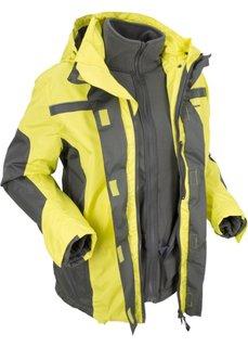 Непромокаемая куртка 3 в 1 (зеленый лайм/антрацитовый) Bonprix