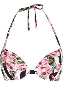 Бра в полоску с цветочным принтом Dolce & Gabbana