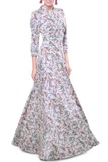 Длинное платье с принтом Olivegrey