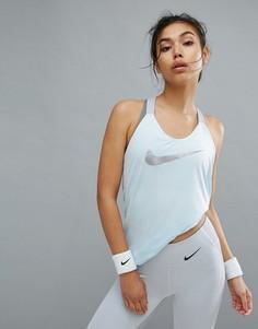 Синяя майка Nike Training Dry Elastika - Синий
