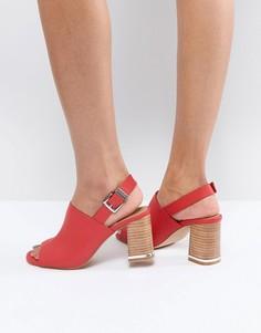 Босоножки на каблуке ASOS TIFFY - Красный