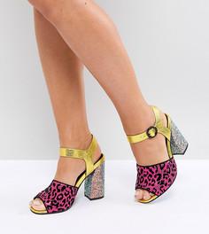 Босоножки на каблуке для широкой стопы ASOS HAZARDOUS - Мульти