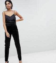 Бархатные премиум-брюки под смокинг ASOS TALL - Черный