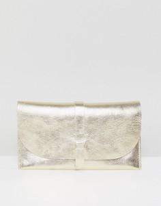 Кожаный кошелек ASOS - Золотой