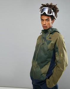 Горнолыжная куртка с зеленым принтом ONeill Jeremy Jones - Зеленый Oneill