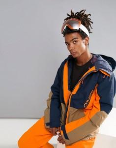Сине-оранжевая горнолыжная куртка с принтом ONeill Suburbs - Темно-синий Oneill