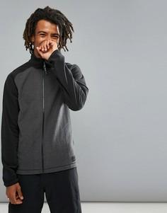 Серо-черная флисовая куртка на молнии с рукавами реглан ONeill Ventilator - Серый Oneill