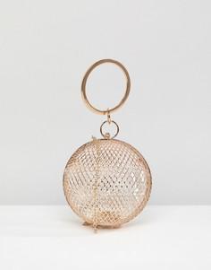 Сетчатый круглый клатч ASOS - Золотой