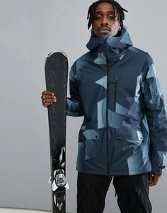 Синяя горнолыжная куртка с принтом Peak Performance Hakuba - Синий