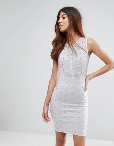 Платье мини с высоким воротом Love & Other Things - Серый