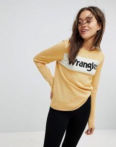 Джемпер с блестящим логотипом Wrangler - Золотой