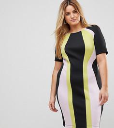 Свободное платье колор блок ASOS CURVE - Мульти