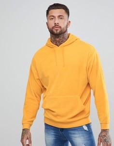 Oversize-худи из велюра желтого цвета ASOS - Желтый