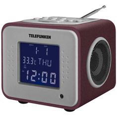 Радио-часы Telefunken TF-1575U Bordeaux/Purple