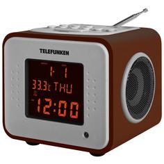 Радио-часы Telefunken TF-1575U Dark Wood/Amber
