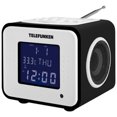 Радио-часы Telefunken TF-1575U Black Wood/Purple
