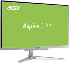 Моноблок Acer Aspire C22-860 Silver DQ.BAVER.004 (Intel Pentium 4405U 2.1 GHz/4096Mb/500Gb/Intel HD Graphics/Wi-Fi/Cam/21.5/1920x1080/DOS)