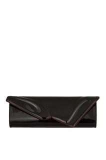 Черный лакированный клатч So Kate Baguette Christian Louboutin