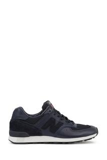 Кроссовки из комбинированной кожи синие №576 New Balance
