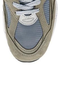 Зеленые замшевые кроссовки №990v2 New Balance