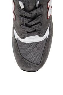Серые замшевые кроссовки №998 New Balance