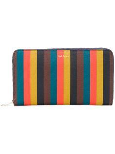 кошелек с круговой застежкой-молнией Bright Stripe Paul Smith