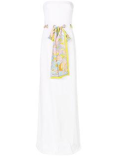платье без рукавов с поясом в виде шарфа Emilio Pucci