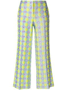 широкие брюки с жаккардовым узором  Emilio Pucci