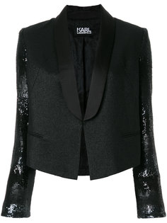 укороченный блейзер-смокинг Karl Lagerfeld