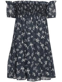 платье с цветочным узором Miu Miu
