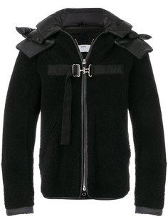 куртка с отделкой из овчины и ремешками Oamc