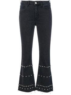 расклешенные джинсы с заклепками Mih Jeans