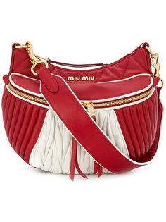 стеганая сумка на плечо Miu Miu