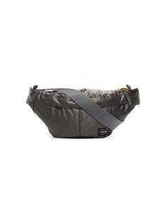 поясная сумка с двумя карманами с металлическим отблеском Porter-Yoshida & Co