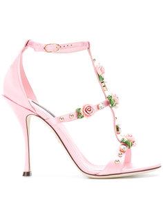 босоножки с ремешками на каблуках Dolce & Gabbana