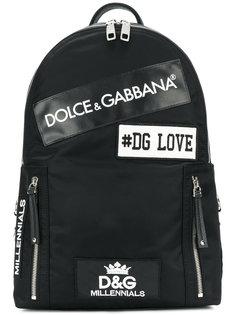 рюкзак с заплатками Dolce & Gabbana