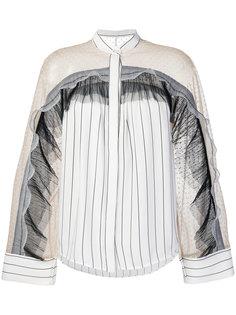блузка с прозрачными панелями Self-Portrait