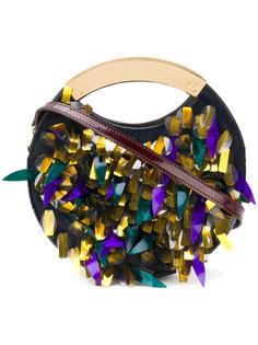 сумка с декором и верхними ручками Delpozo