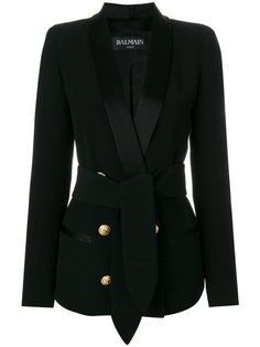 двубортный пиджак-смокинг  Balmain